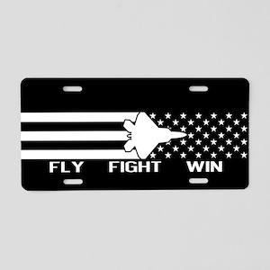 U.S. Military: F-22 - Fly F Aluminum License Plate