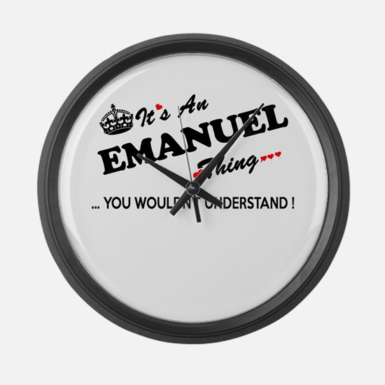 Funny Emanuel Large Wall Clock
