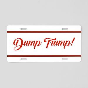 Dump Trump Aluminum License Plate