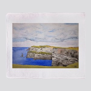 Cliffs Of Moher Lore Throw Blanket