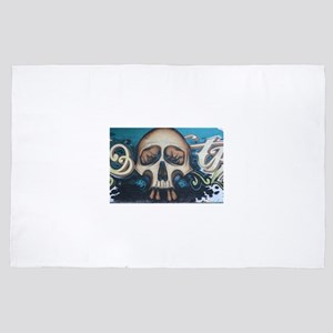 Skull Street Art 4' x 6' Rug
