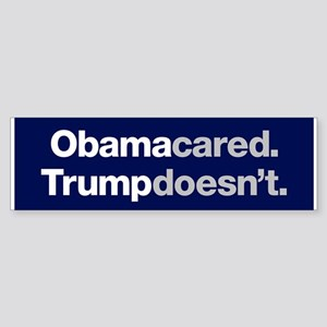 Obama Cared Trump Doesn't Bumper Sticker