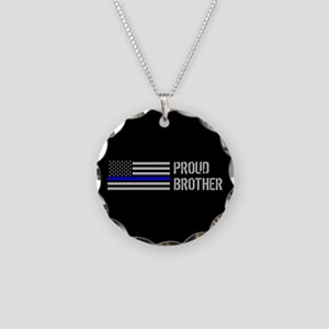 Police: Proud Brother Necklace Circle Charm