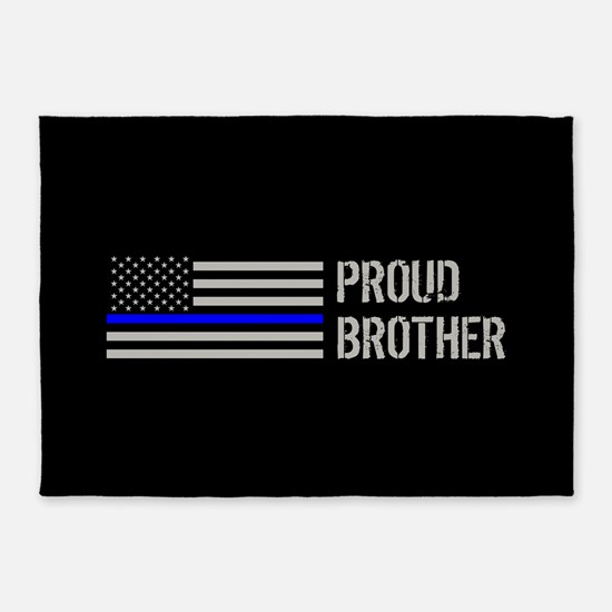 Police: Proud Brother 5'x7'Area Rug