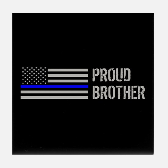 Police: Proud Brother Tile Coaster