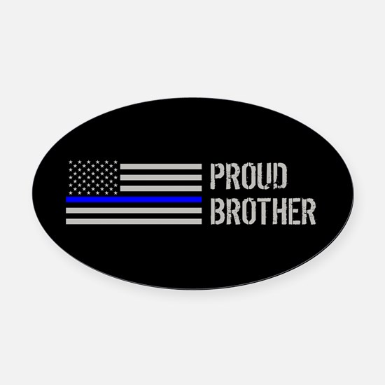 Police: Proud Brother Oval Car Magnet