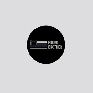 Police: Proud Brother Mini Button