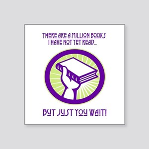 A million books I have yet to read Sticker