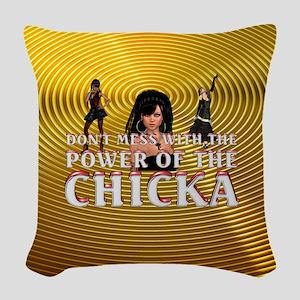 Chicka Power Woven Throw Pillow