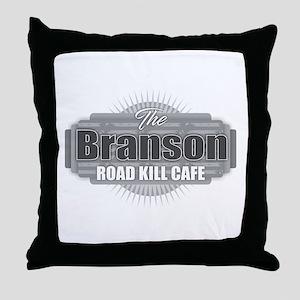 Branson Road Kill Cafe Throw Pillow