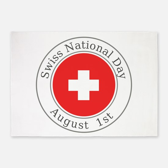 Swiss National Day 5'x7'Area Rug