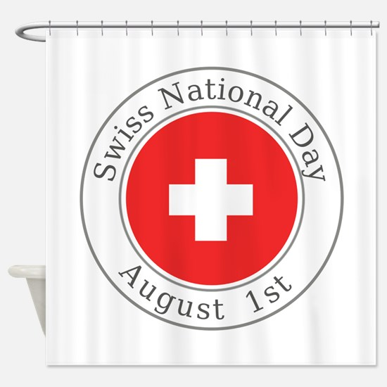 Swiss National Day Shower Curtain