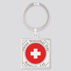 Swiss National Day Keychains