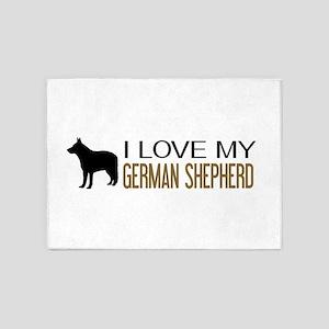 Dogs: I Love My German Shepherd 5'x7'Area Rug