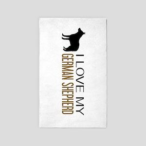 Dogs: I Love My German Shepherd Area Rug