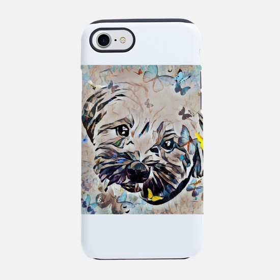 Shorkie with butterflies iPhone 8/7 Tough Case