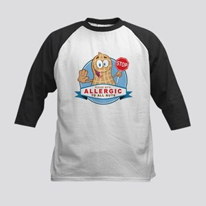 Allergic All Nuts Kids Baseball Jersey