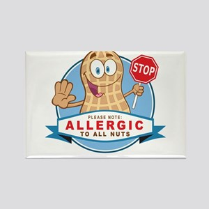 Allergic All Nuts Rectangle Magnet