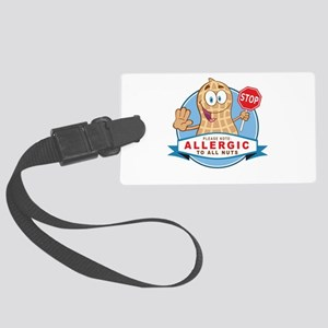 Allergic All Nuts Large Luggage Tag