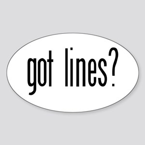 Got lines? Oval Sticker
