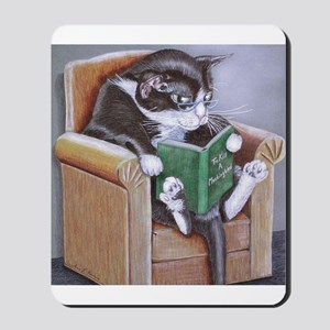 Reading Cat Mousepad