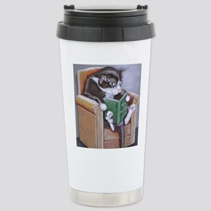 Reading Cat Travel Mug