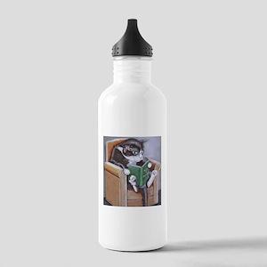 Reading Cat Water Bottle