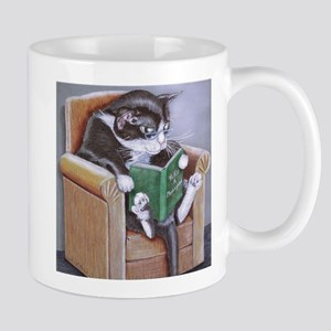 Reading Cat Mugs