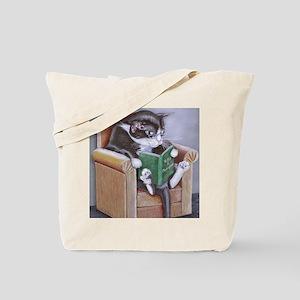 Reading Cat Tote Bag