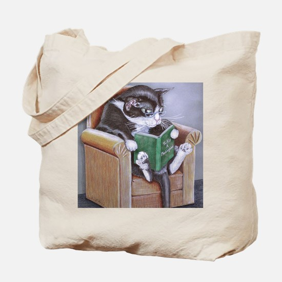 Reading Cat Tote Bag