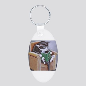 Reading Cat Keychains