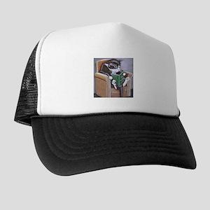 Reading Cat Trucker Hat