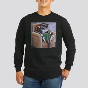 Reading Cat Long Sleeve T-Shirt