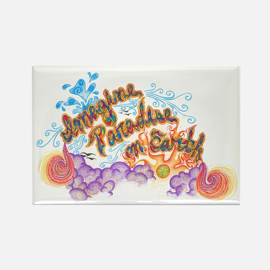 Imagine Paradise on Earth Magnet (100 pack)