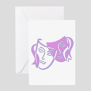 Pastel Masks Greeting Card