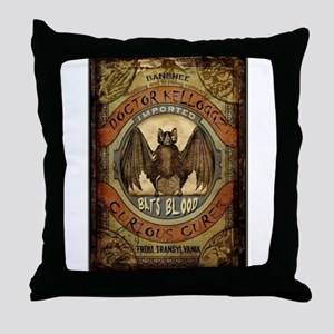 Bat Brew Throw Pillow