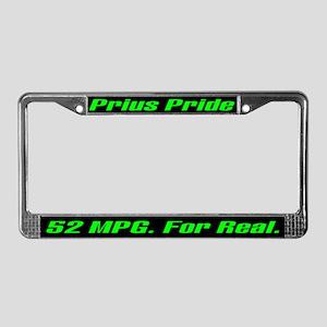 Prius Pride 52 MPG License Plate Frame