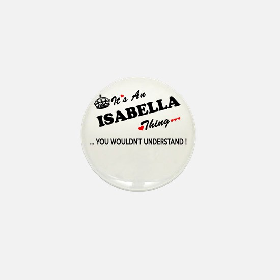 Cute Isabella Mini Button
