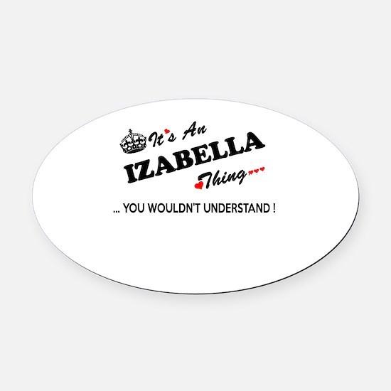 Cute Izabella Oval Car Magnet