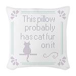 Cat Fur Cross Stitch Woven Throw Pillow