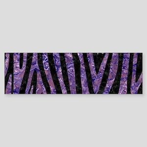SKIN4 BLACK MARBLE & PURPLE MARBL Sticker (Bumper)