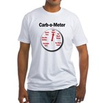 Diabetes Carb-o-Meter Fitted T-Shirt
