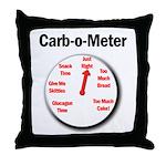 Diabetes Carb-o-Meter Throw Pillow