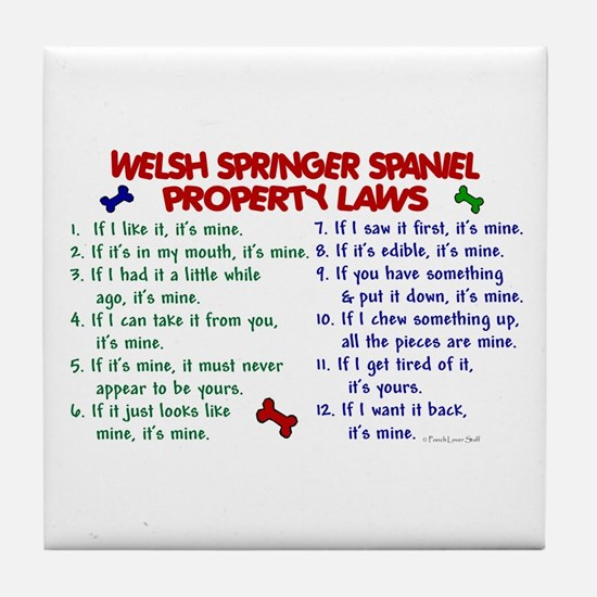 Welsh Springer Spaniel Property Laws 2 Tile Coaste
