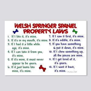 Welsh Springer Spaniel Property Laws 2 Postcards (