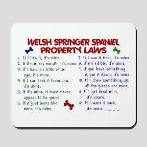 Welsh Springer Spaniel Property Laws 2 Mousepad