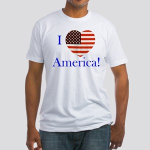I Love America! Fitted T-Shirt