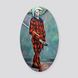 Harlequin by Paul Cézanne Oval Car Magnet