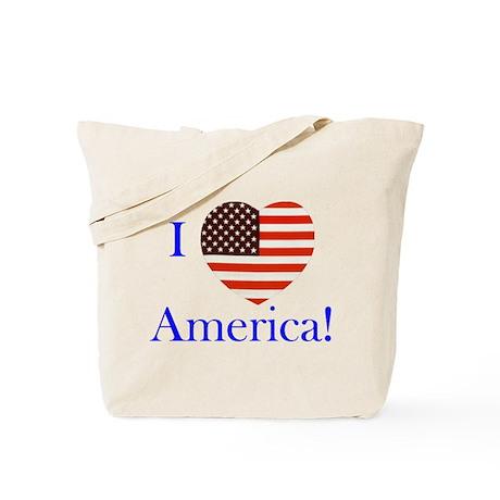 I Love America! Tote Bag