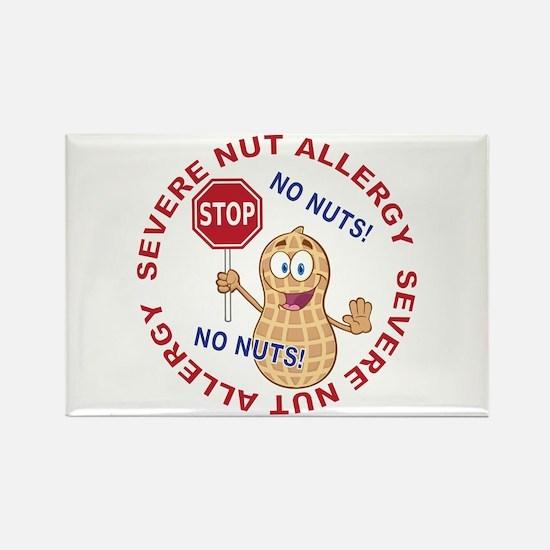 Severe Nut Allergy Rectangle Magnet